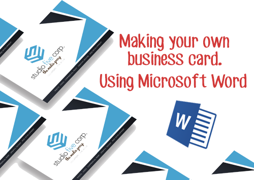 How to videos making your own business cards using microsoft word reheart