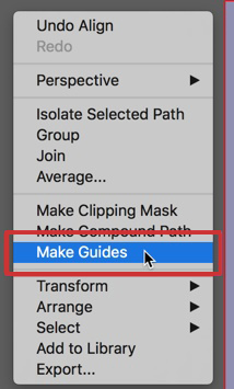 Right click anywhere and select Make Guides