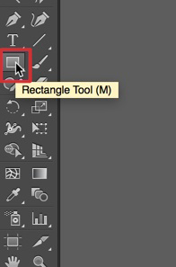 Select the rectangle tool to create a rectangle
