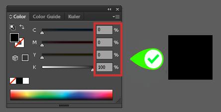 configure black colors