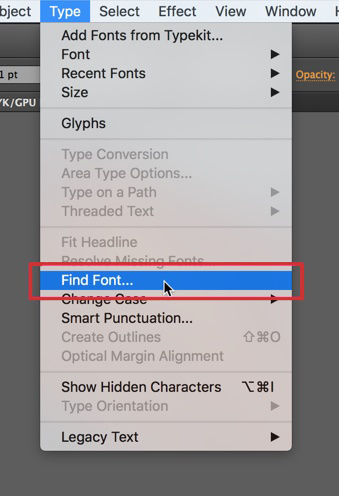 Use the tool to find all the fonts in your document